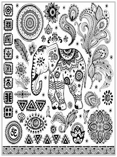 Asian Elephant Adult Coloring Pages Free