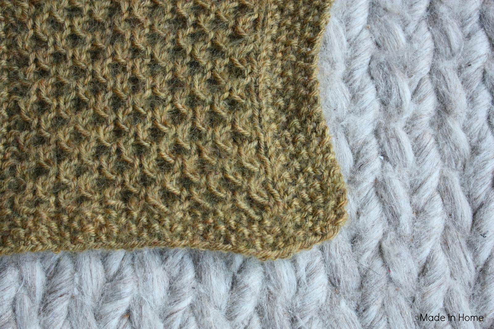 Made in Home: Study of honeycomb :: Knitting ::