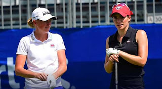 Stacy Lewis and Gaby Lopez