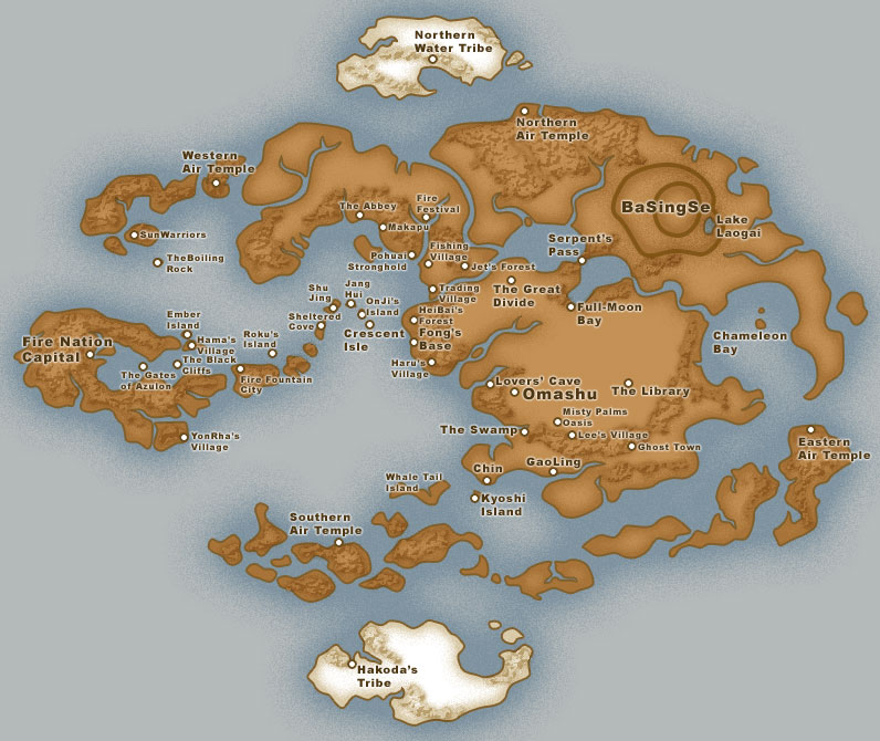 Supervillainous all great settings deserve a pen and paper a map of the avatar the last airbender world from alisachristophers deviantart sciox Images