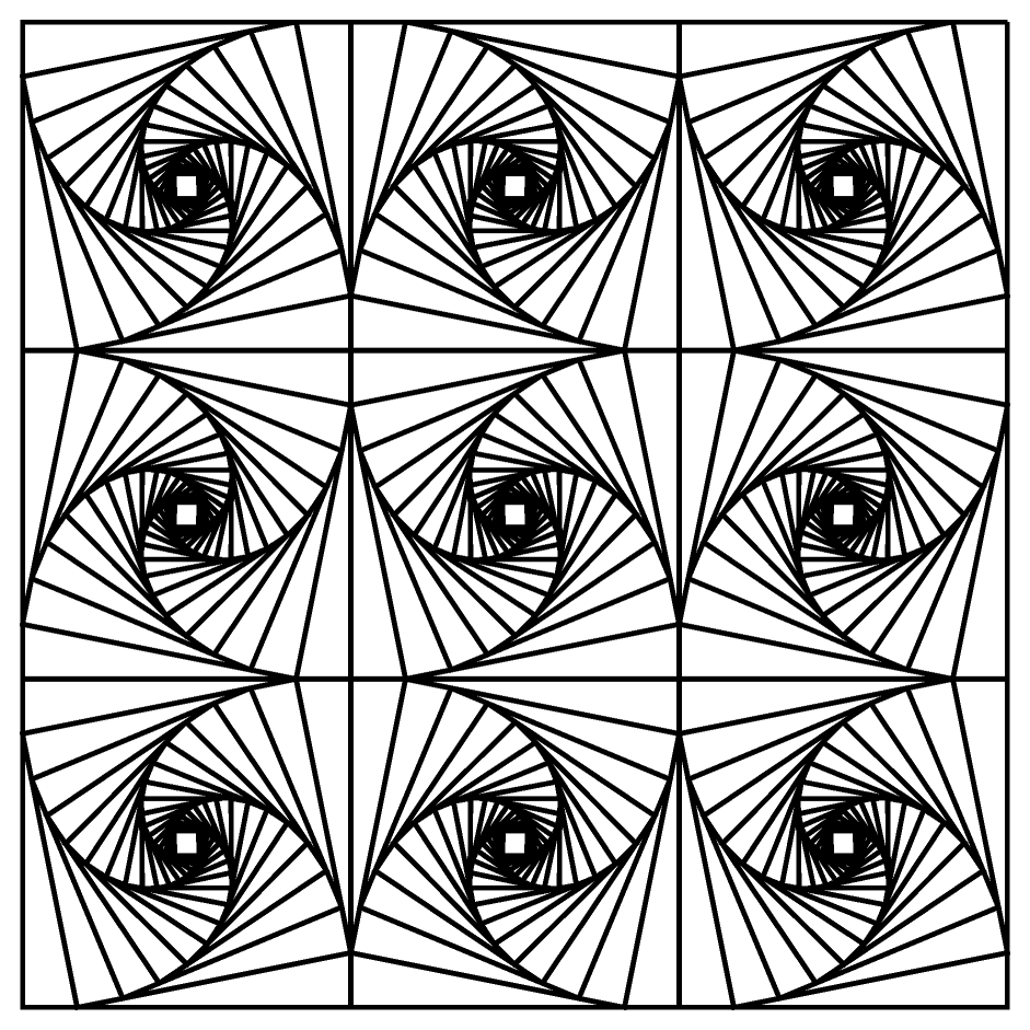 Old Fashioned image for printable geometric coloring pages