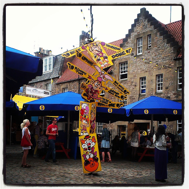 Pleasance Courtyard totem pole