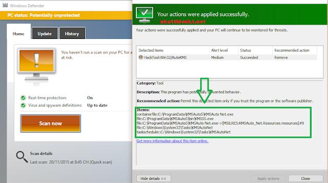 Hướng dẫn tắt Windows Defender Windows 10