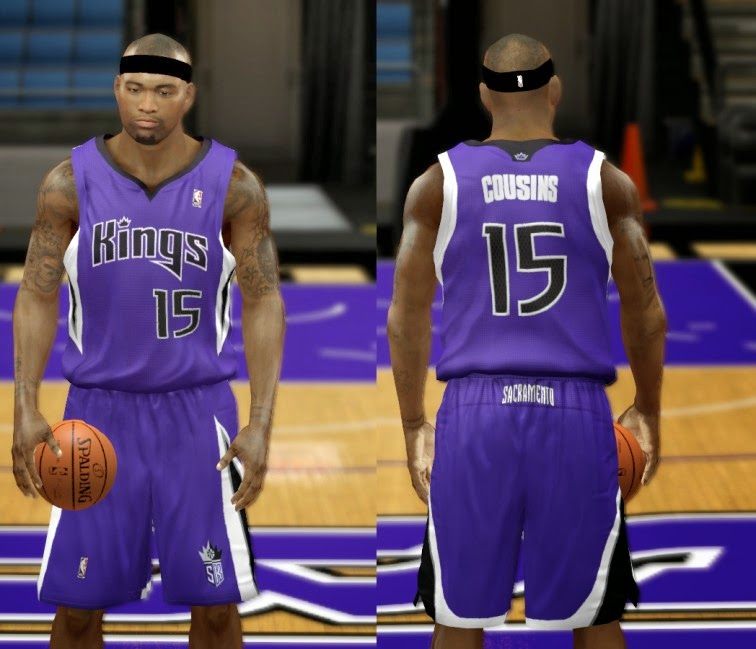 NBA 2K14 Mods Kings Jersey Pack