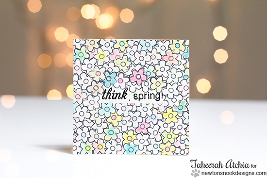 Spring Flower card by Taheerah Atchia for Newton's Nook Designs - Easter Scramble Stamp set