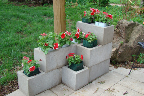 making-cinder-block-planter