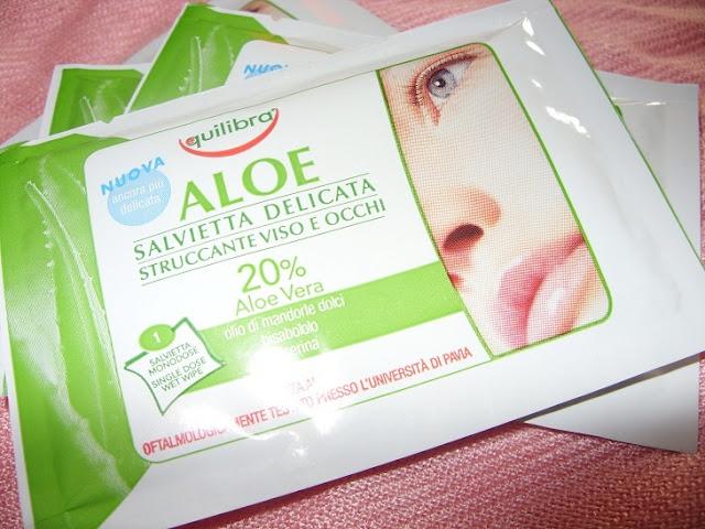 Recenzja: Aloesowe chusteczki oczyszczające do demakijażu oraz Aloesowy dermo żel multiactive, Equilibra