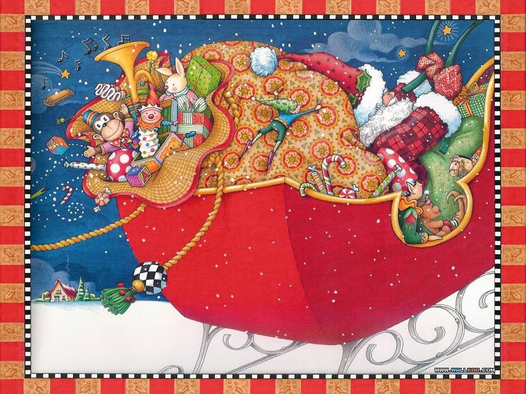 Pinzellades al món: Pare Noel: il·lustracions de Mary Engelbreit ...