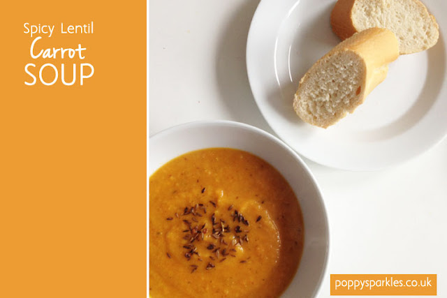 Spicy Lentil and Carrot Soup | Poppy Sparkles