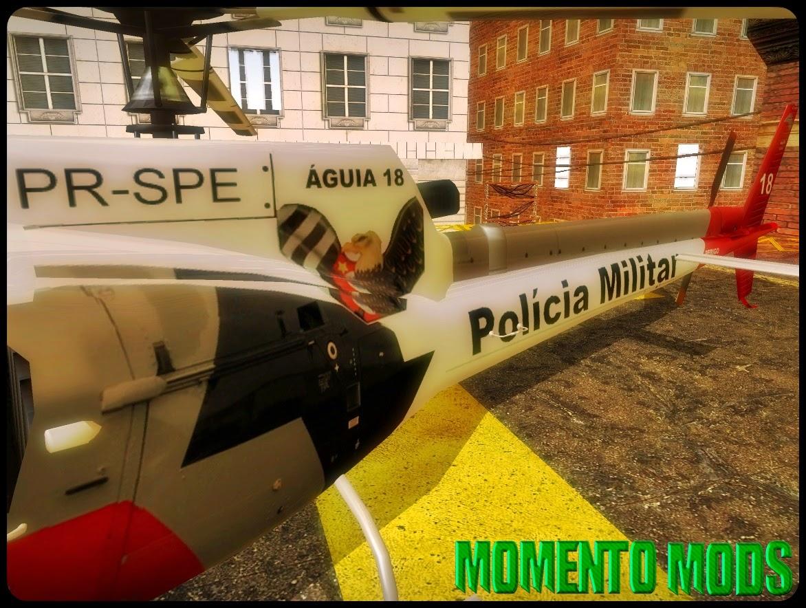GTA SA - Helicóptero Águia 18 Da Policia Militar