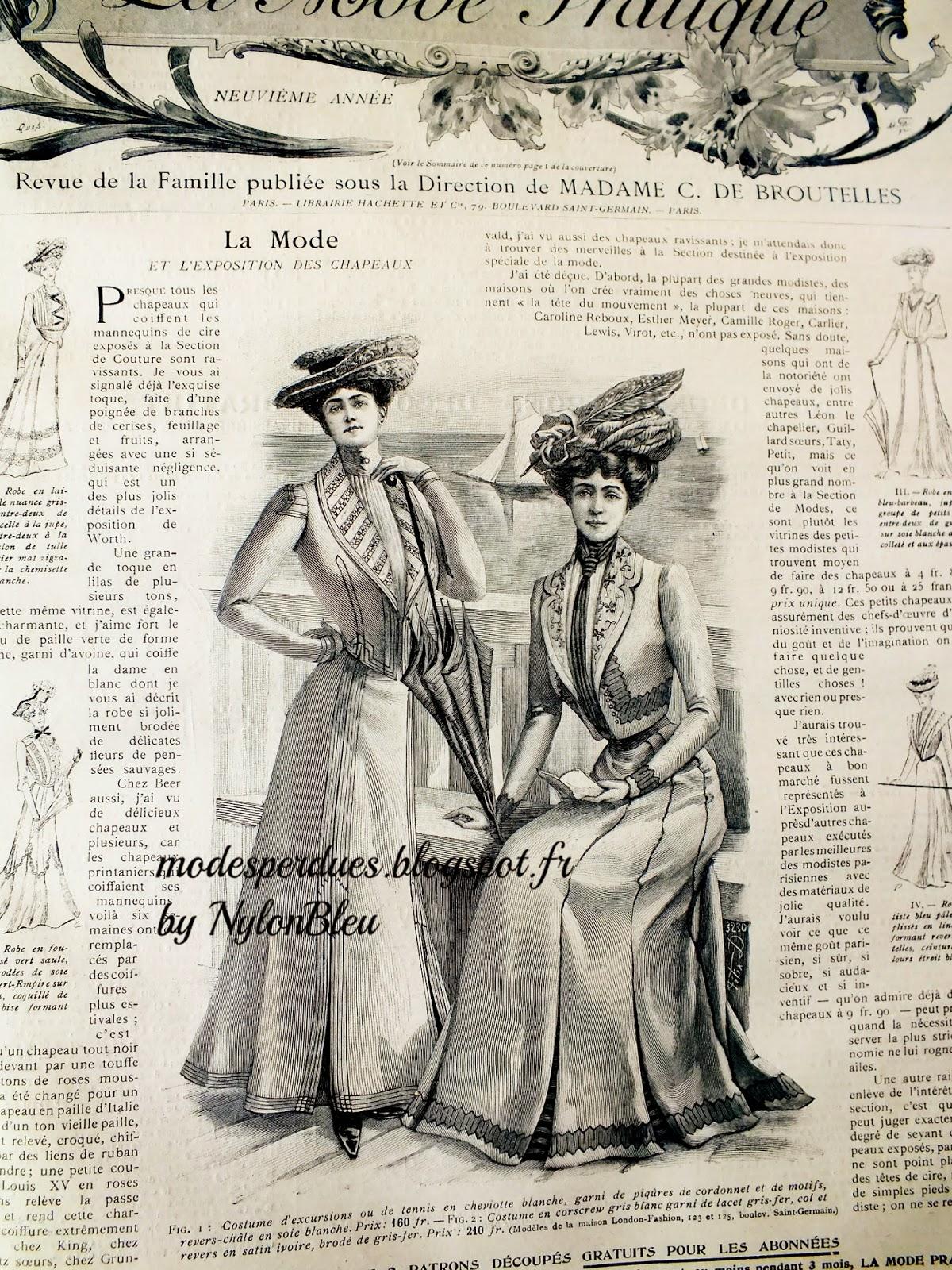 A la recherche des modes perdues et oubli es revue de presse juillet 1900 - Le journal de la mode ...