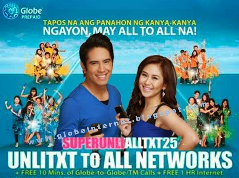 text to all networks 25 globe