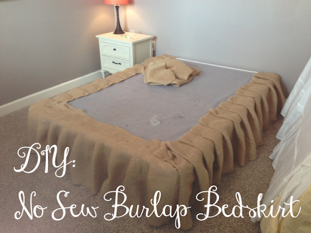 You Got Personal No Sew Burlap Bedskirt Tutorial