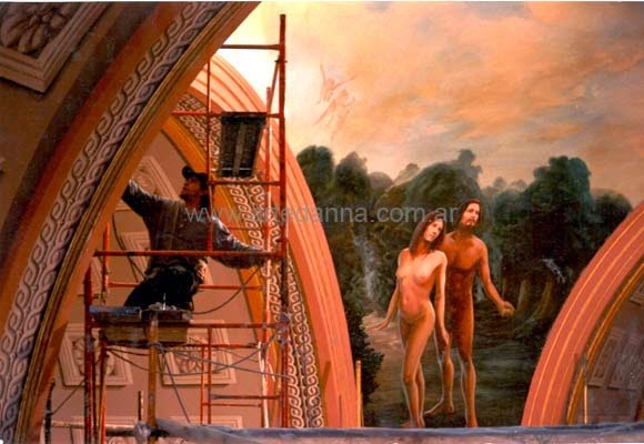 Cupula iglesia de la piedad - La creacion -( oil )