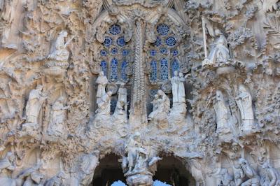 Detail of Sagrada Familia Basilica in Barcelona