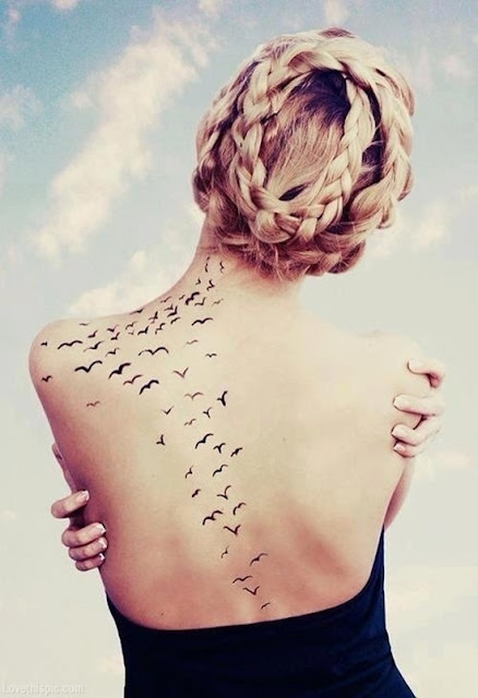 Girls Tattoos: Flock of Birds