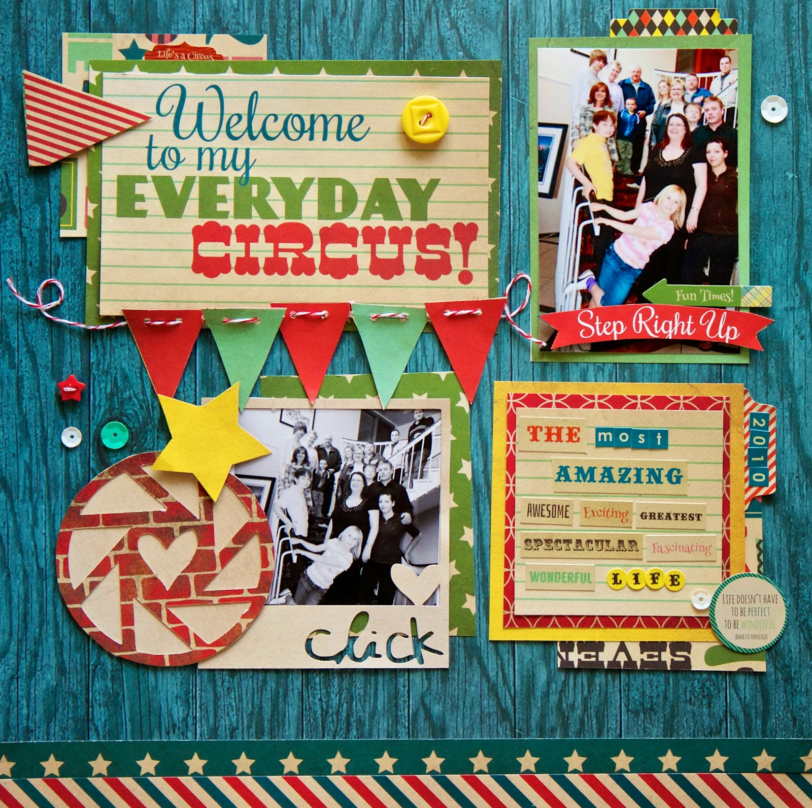 Journey scrapbook ideas - Welcome To My Everyday Circus Layout