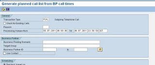Call lists: Creating a new call in a call list, Acorel