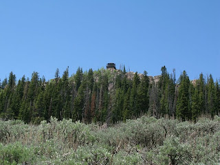 fire tower in the Big Horn Mountains taken by Heidi Frederick
