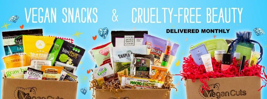 Vegancuts beauty and snack boxes