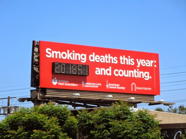 Smoking deaths this year and counting billboard
