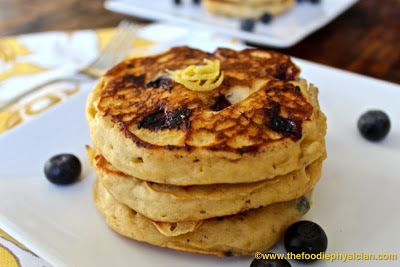 dining with the doc: lemon ricotta blueberry pancakes