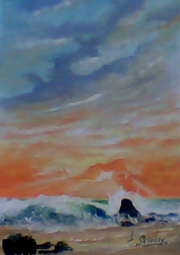 ocean sunset drawing. of a beach sunset is also