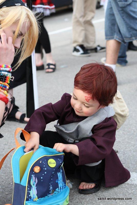 pequeno gaara crianca cosplay bonitinho anime naruto