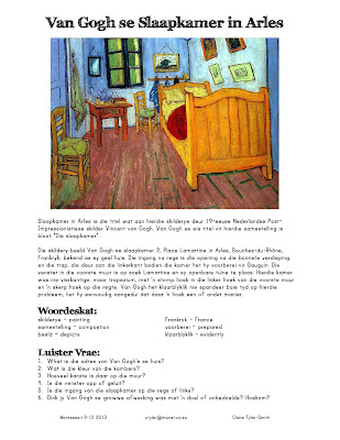 the bedroom by vincent van gogh essay Students will examine vincent van gogh's self-portraits and letters to better understand the artist's life story and personality then, they will paint two van gogh.
