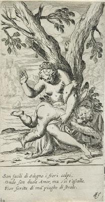 venus castigando al amor profano, nalgada representada en un grabado de odoardo fialetti