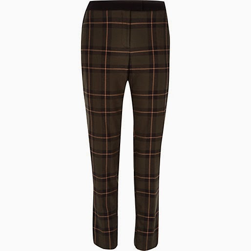 green checked trousers