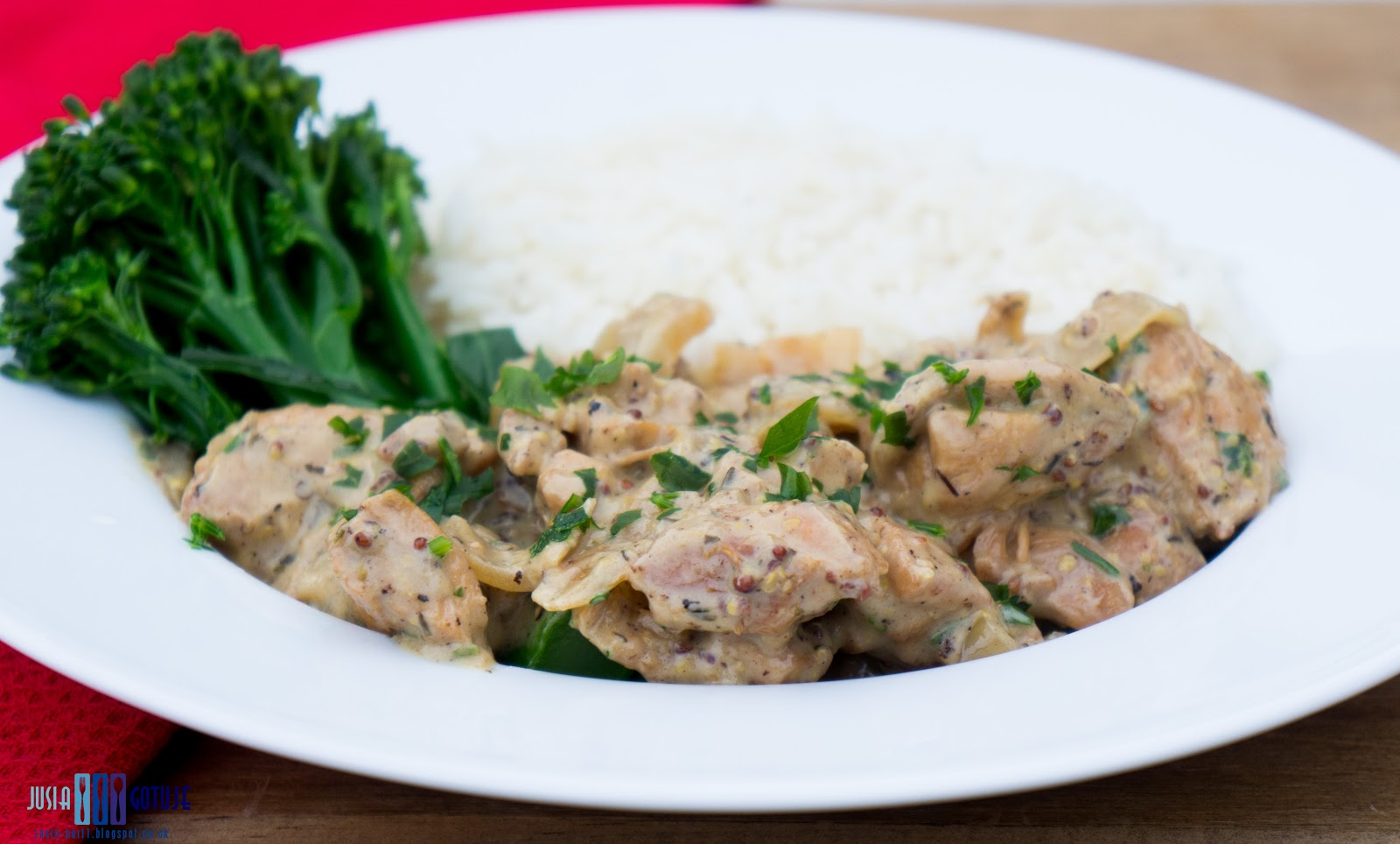 Kurczak, cider, cydr, sos, kurczak w sosie, drób, szybki obiad, chicken, chicken in cider sauce, quick dinner,