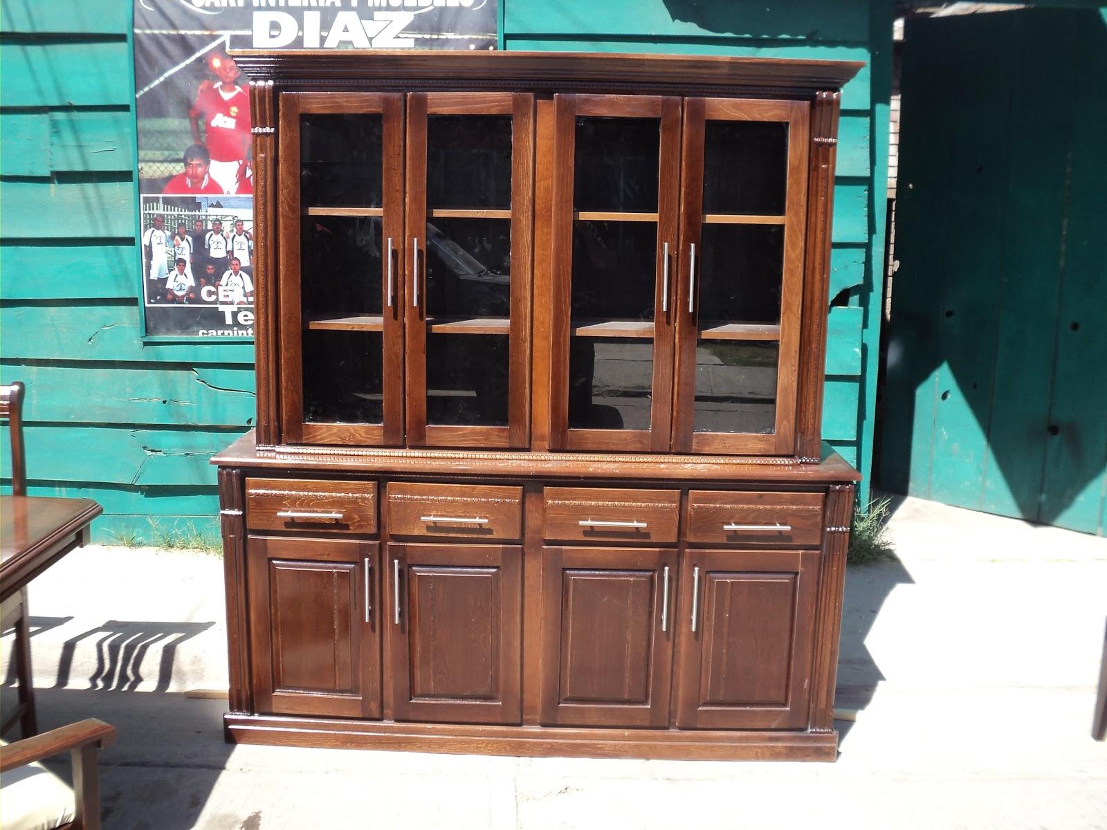 carpinteria y muebles diaz comedor de 8 sillas y vitrina