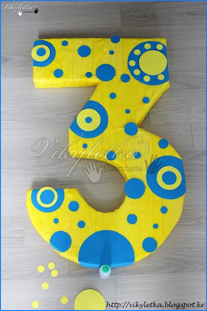 Цифра 3 из картона размеры