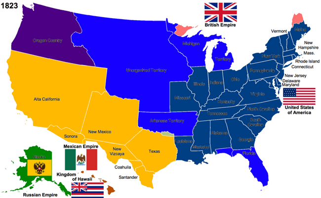NephiCode The United States As The Land Of Promise Part II - Map of us land originally held by mexico