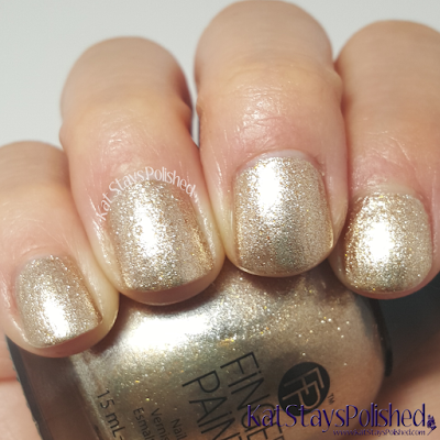 FingerPaints Tis the Season to Sparkle - Golden Glaze | Kat Stays Polished