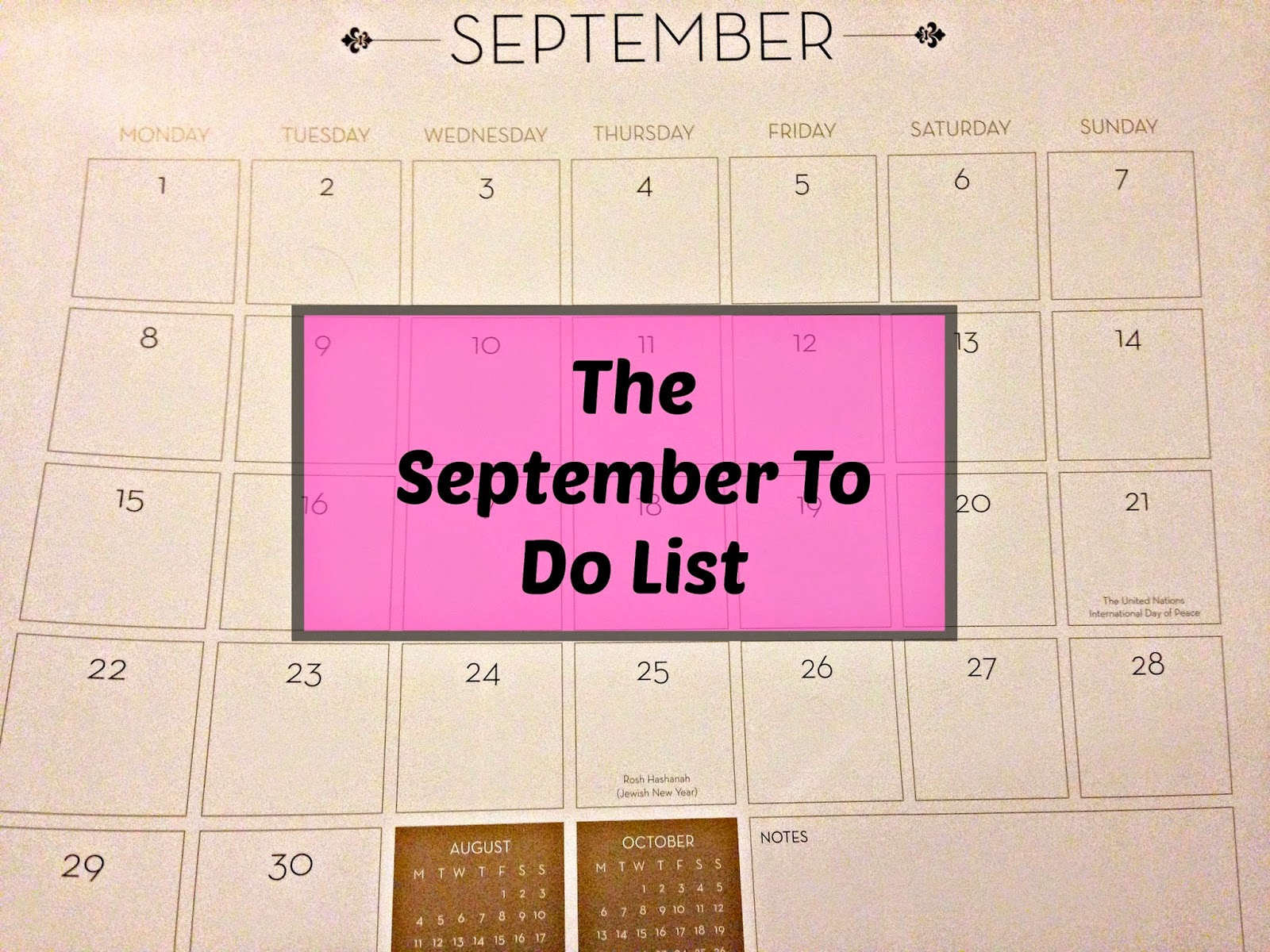 The September To Do List