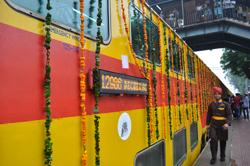 Delhi Sarai Rohilla - Jaipur Double Decker Train - Train no. 12985/12986  flagged off