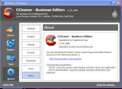 CCleaner Professional + Business Edition v3.26.1888 + crack