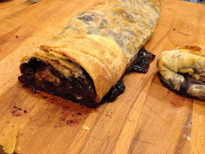 finished Blueberry Strudel