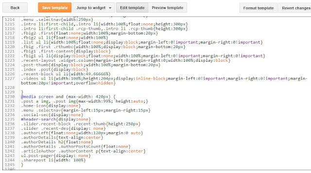 media query code