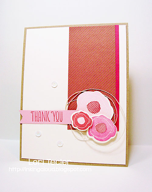 Floral Thank You card-designed by Lori Tecler/Inking Aloud-stamps and dies from WPlus9
