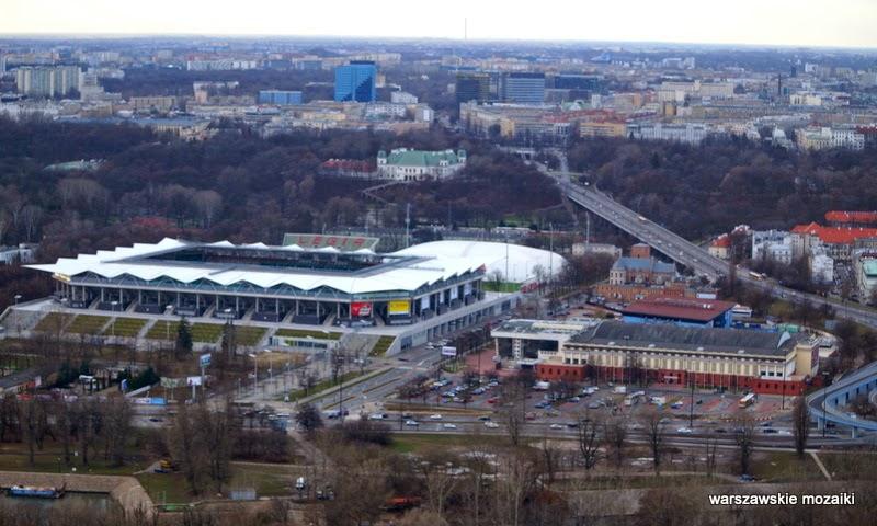 Legia stadion Warszawa miasto z lotu ptaka panorama miasta stolica