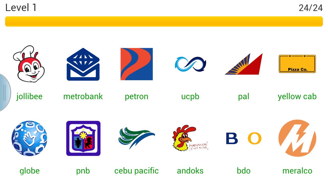Word Quiz Geek: Logo Quiz Philippines Level 1