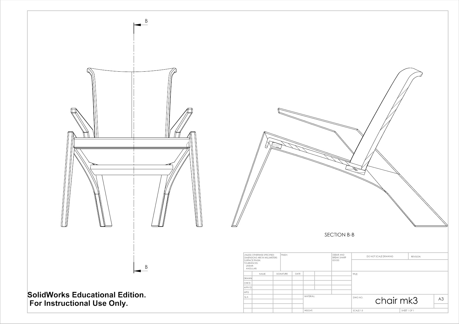 AutoCAD Furniture Design Drawing