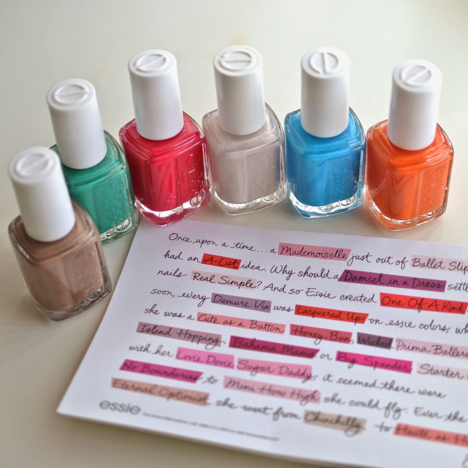 Names Of Haute Polish Colors - Worksheet & Coloring Pages