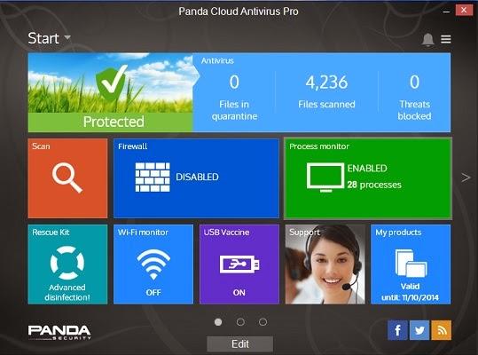 Key Panda cloud antivirus bản quyền 6 tháng