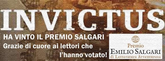 INVICTUS HA VINTO IL PREMIO SALGARI DI LETTERATURA AVVENTUROSA 2014