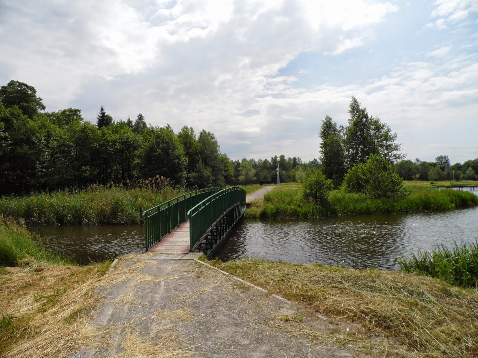Mostek na Wieprzu wpływającym do Zalewu Rudka