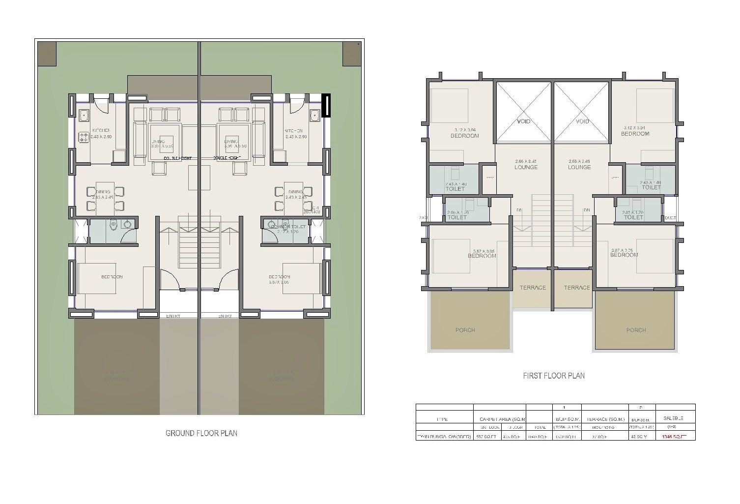 Architectural portfolio march 2013 Twin bungalow plans